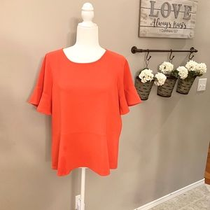 Madewell Flare Hem Top Size Medium
